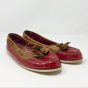 Sperry | Red Patent Leather Loafers
